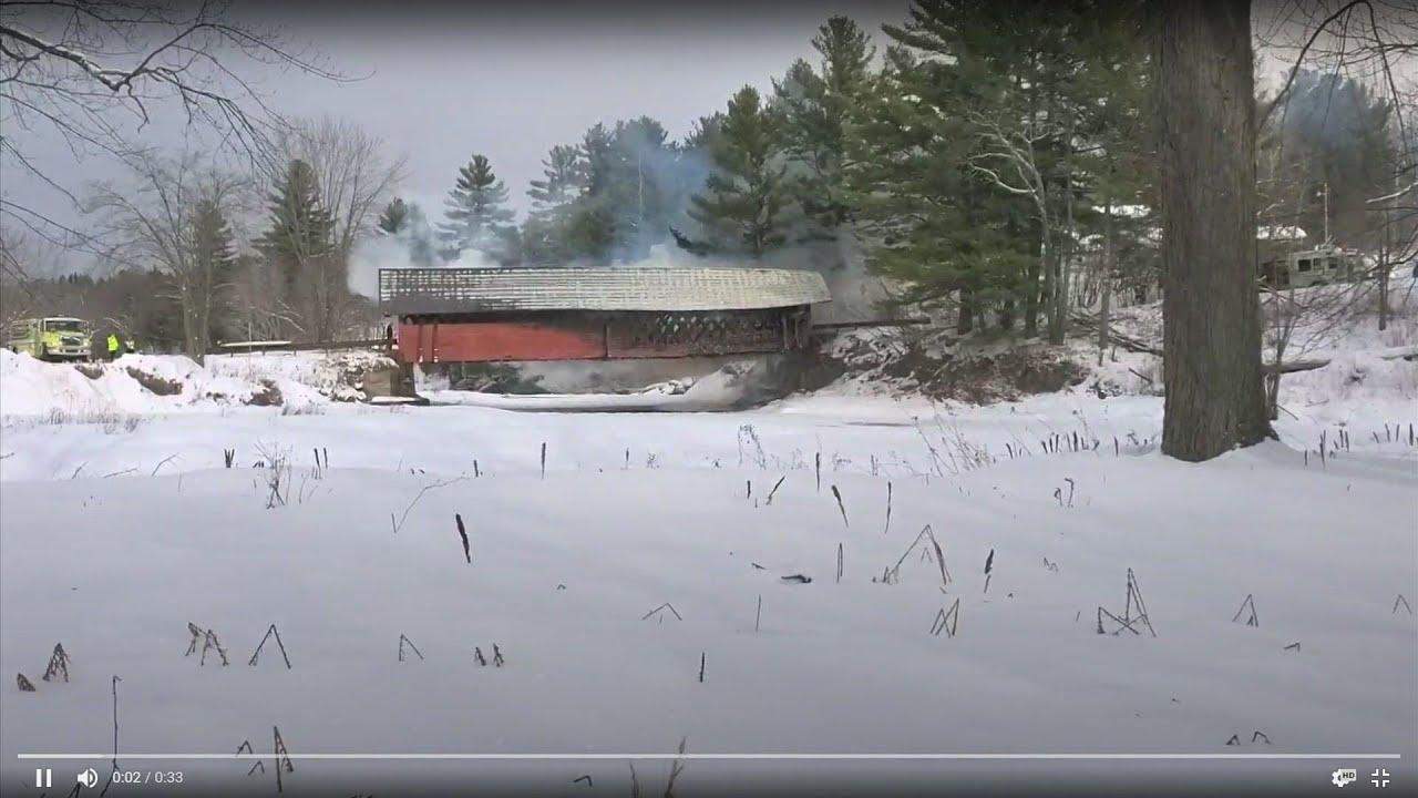 Fire destroys Vermont covered bridge