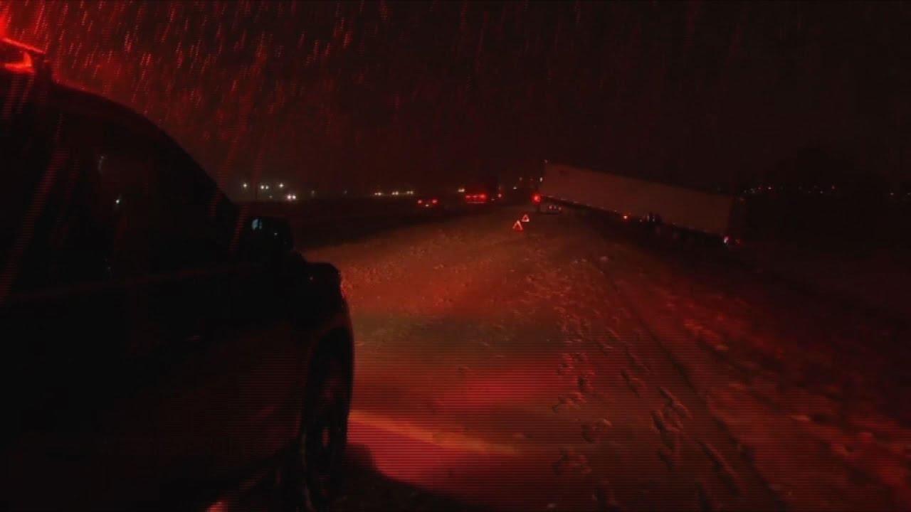 Snow makes driving dangerous around Dayton, Ohio