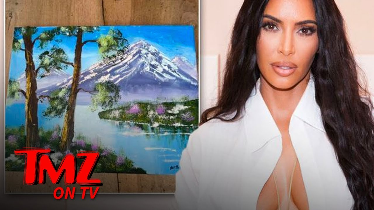 Kim Kardashian Blasts Critics of North's 'Bob Ross' Painting | TMZ TV