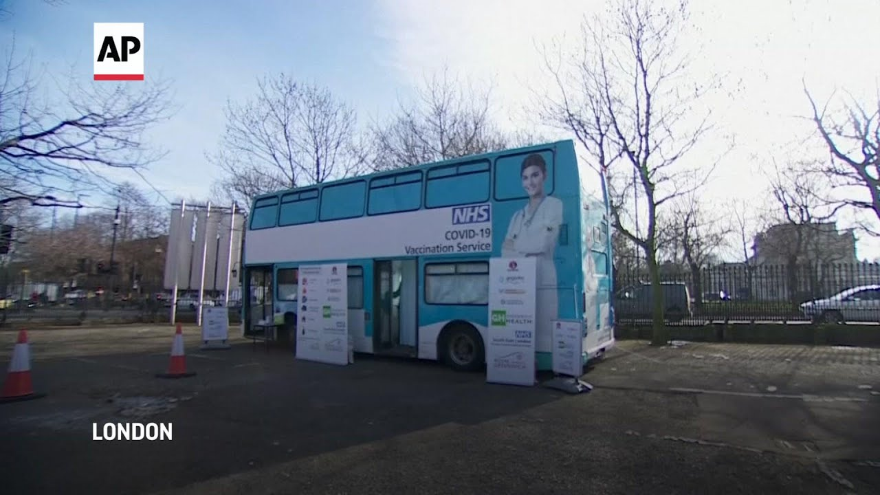 Vaccine bus set up in London to deliver jabs