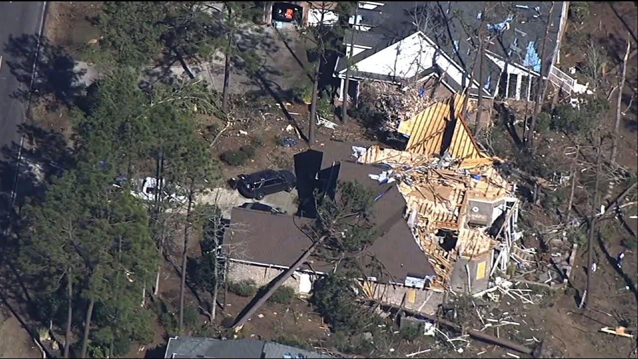 Aerial video shows tornado damage in N. Carolina