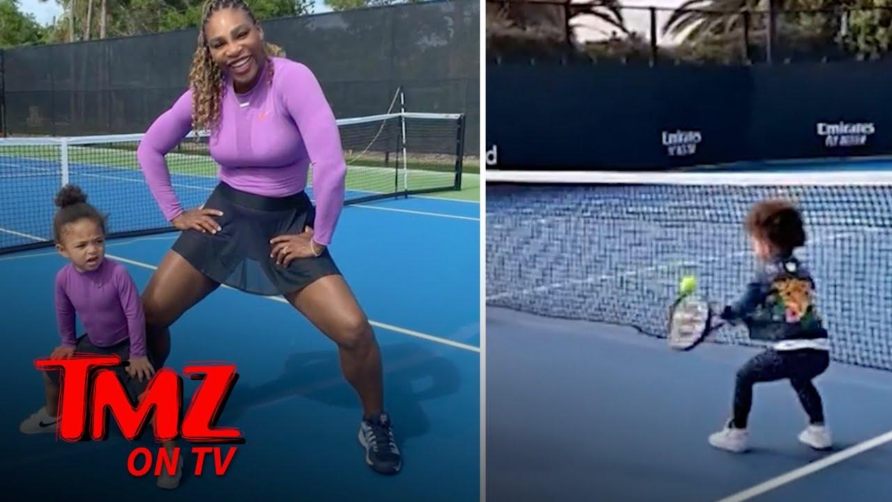 Serena Williams' Daughter ... Next Great Tennis Star?! | TMZ TV