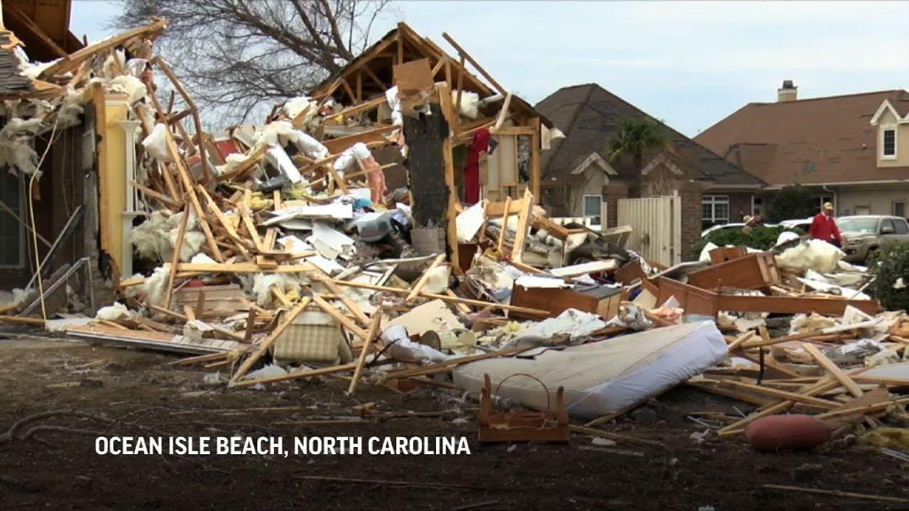 North Carolina Governor tours tornado damage