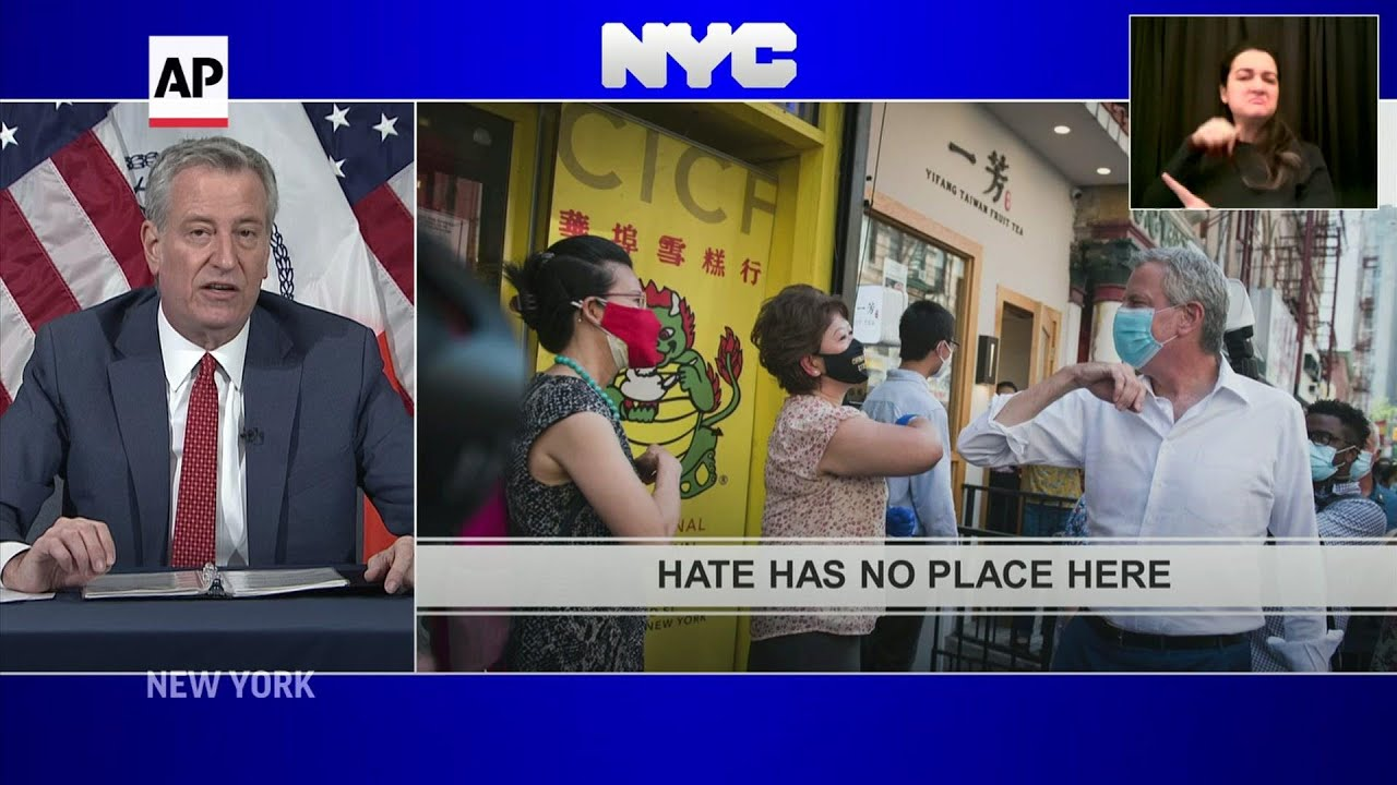 NYC mayor warns against Asian hate