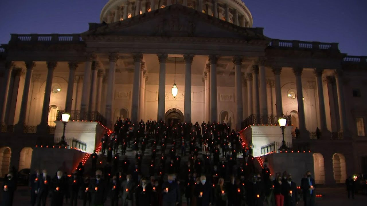 Capitol 'moment of silence' held for COVID deaths