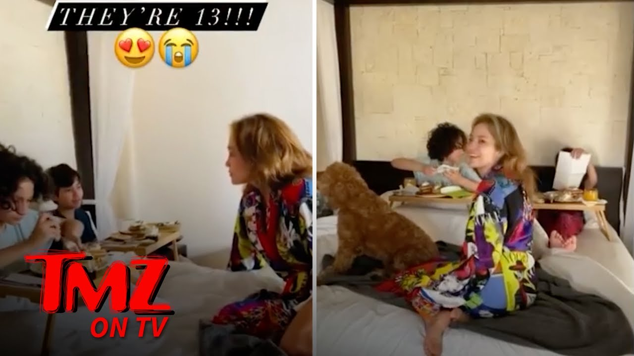 J Lo's Twins Celebrate 13th Birthday With Breakfast In Bed   TMZ TV