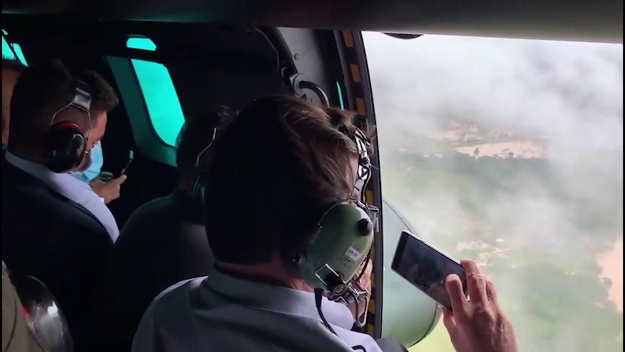 Bolsonaro flies over flood-ravaged Acre state