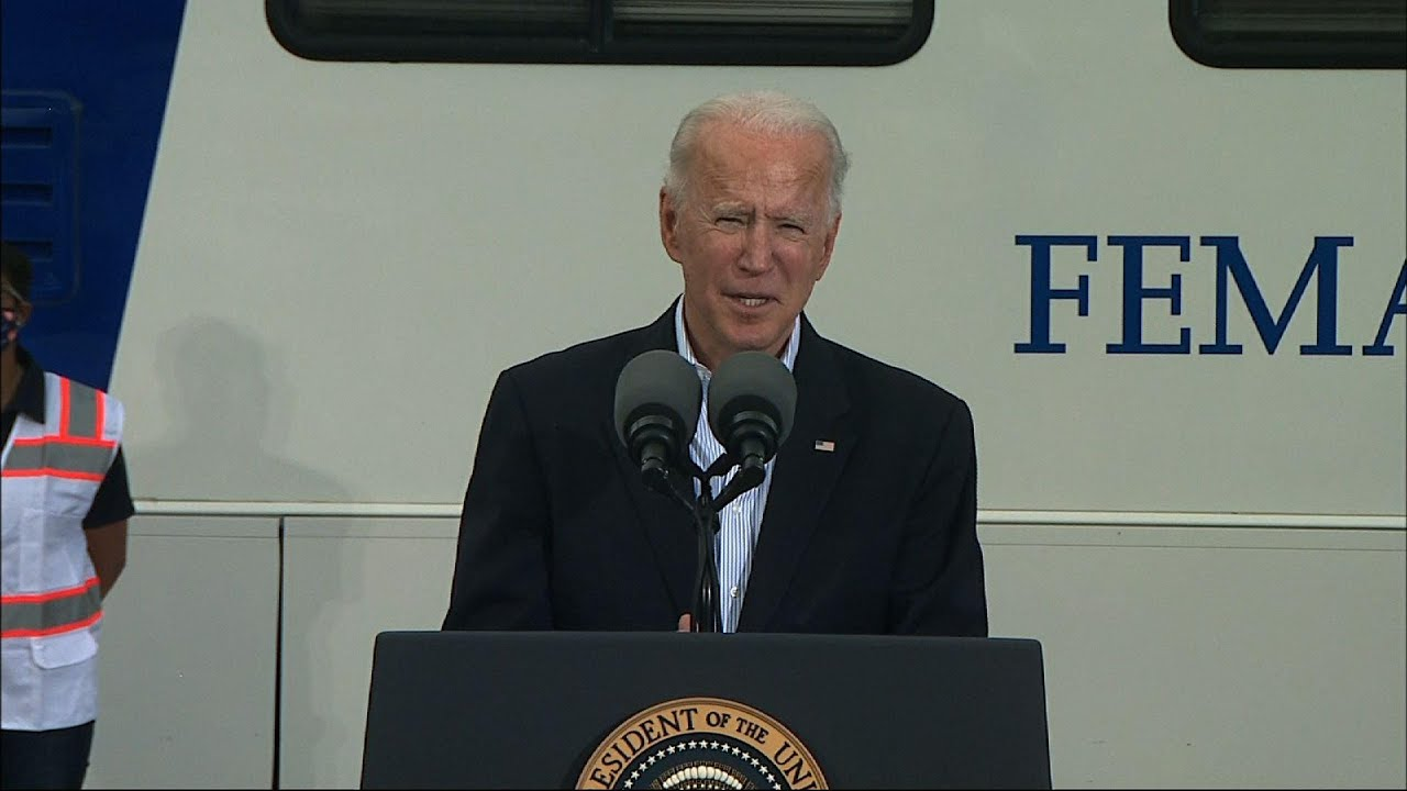 Biden in TX: 'Nothing partisan' about virus, storm