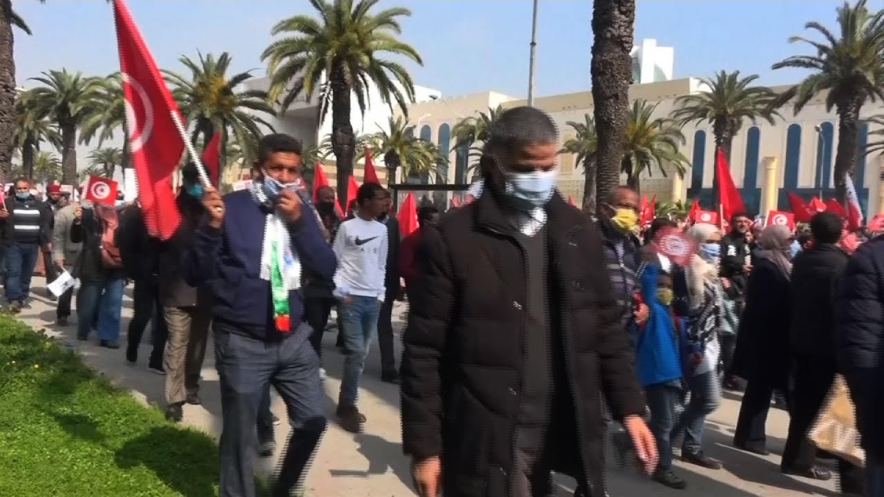 Tunisian Ennahda party demands unity during protest