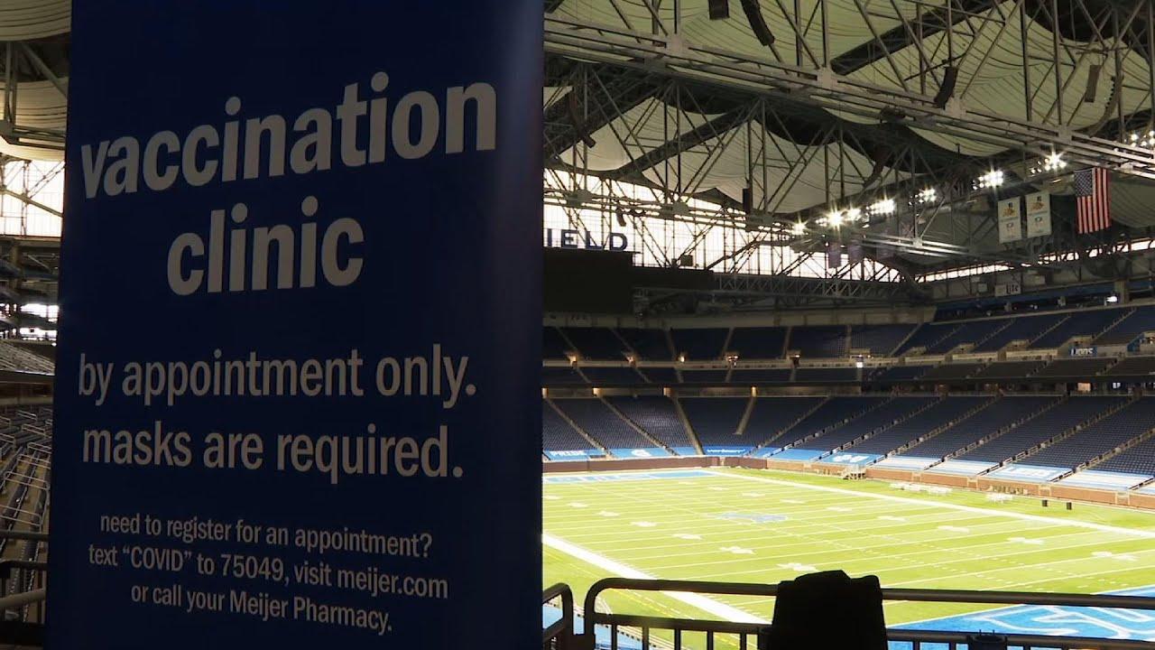 Home of NFL's Detroit Lions hosts vaccine clinic
