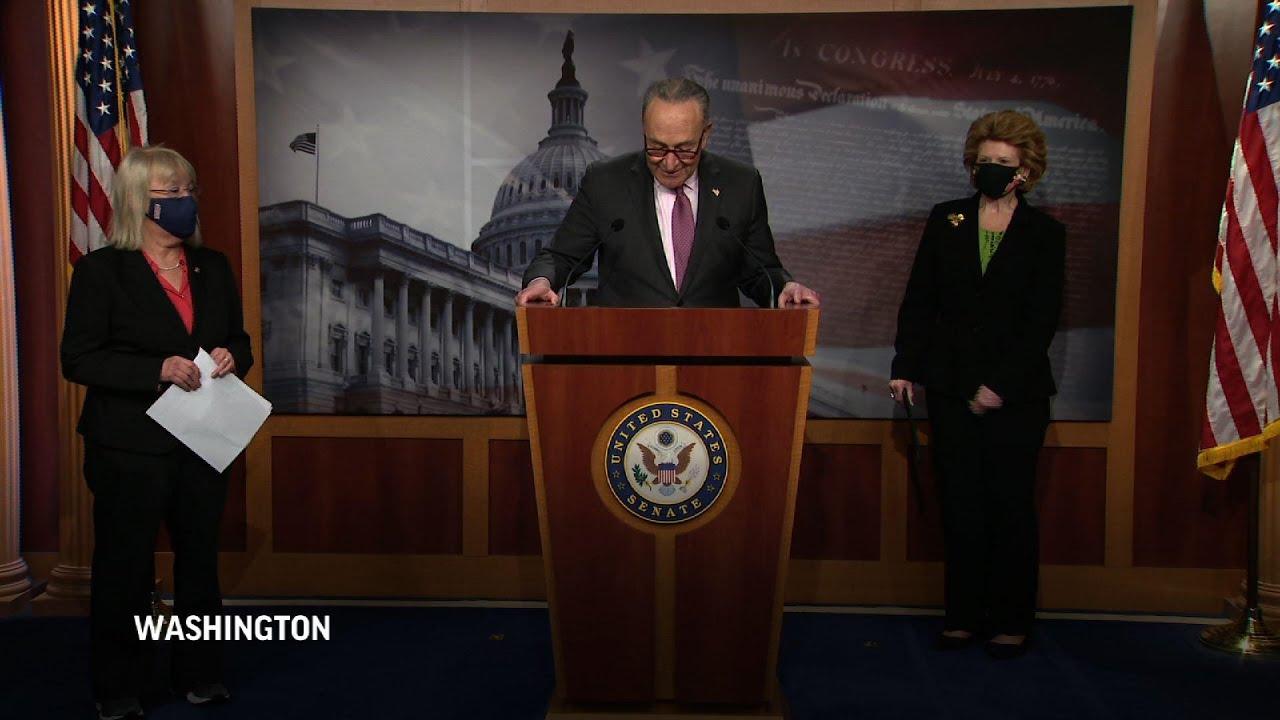 Senate Dems eye final details of virus relief bill