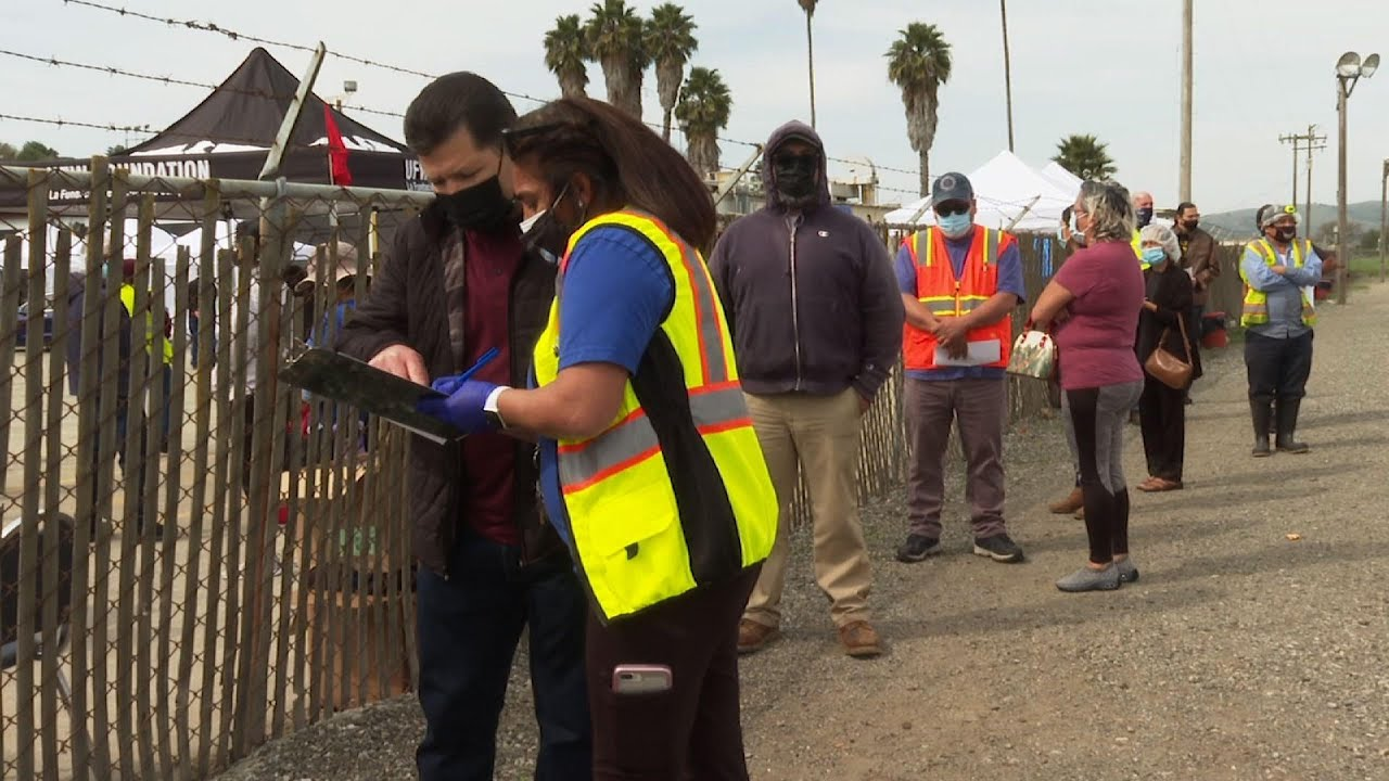 Farmworkers get vaccine at California mobile clinic