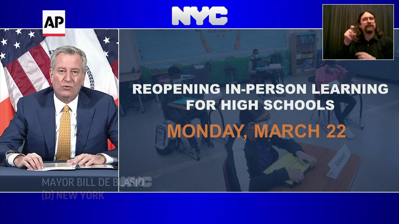 NYC high schools to reopen March 22