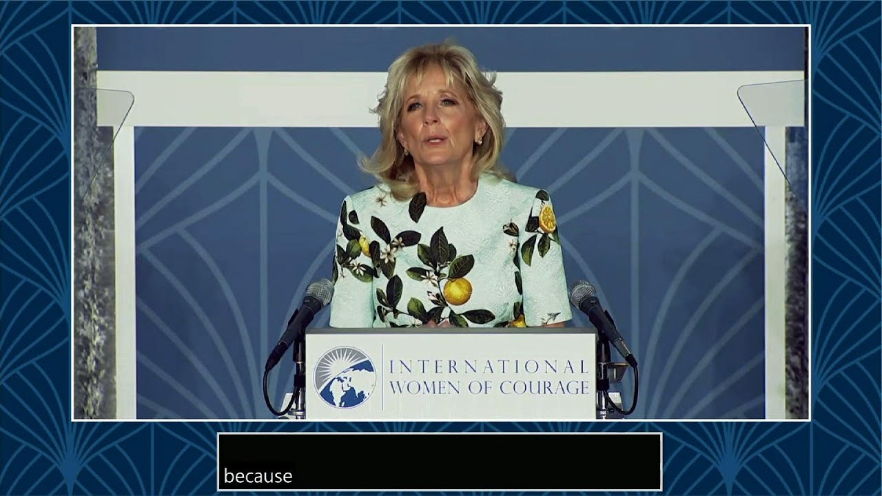 Jill Biden honors 21 women worldwide for courage