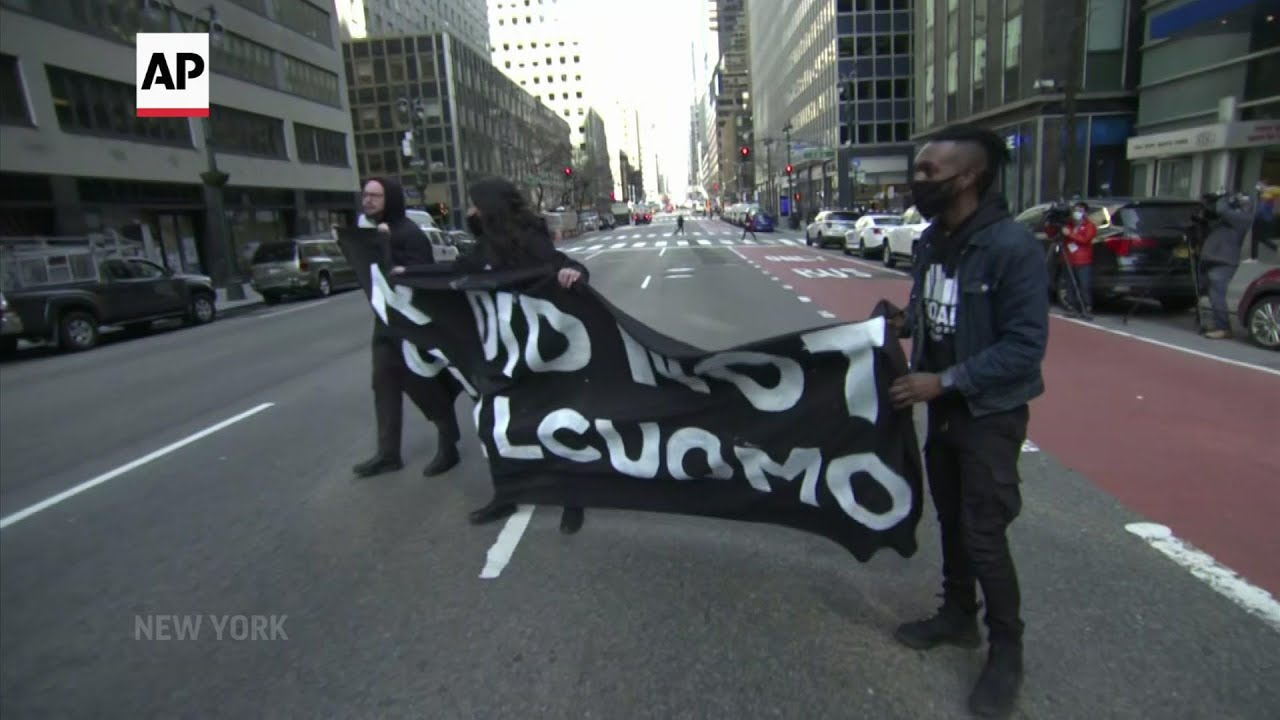Protesters call on Gov. Cuomo to step down