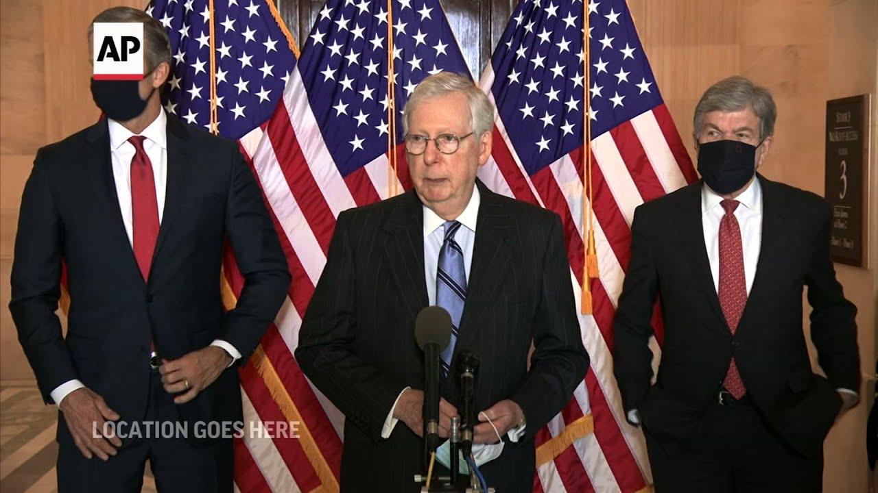 Senate Republicans blast passage of stimulus bill