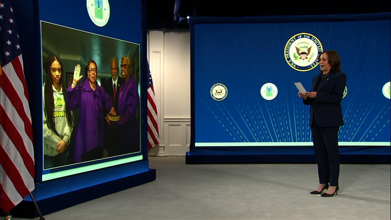 Harris swears in Marcia Fudge as HUD Secretary