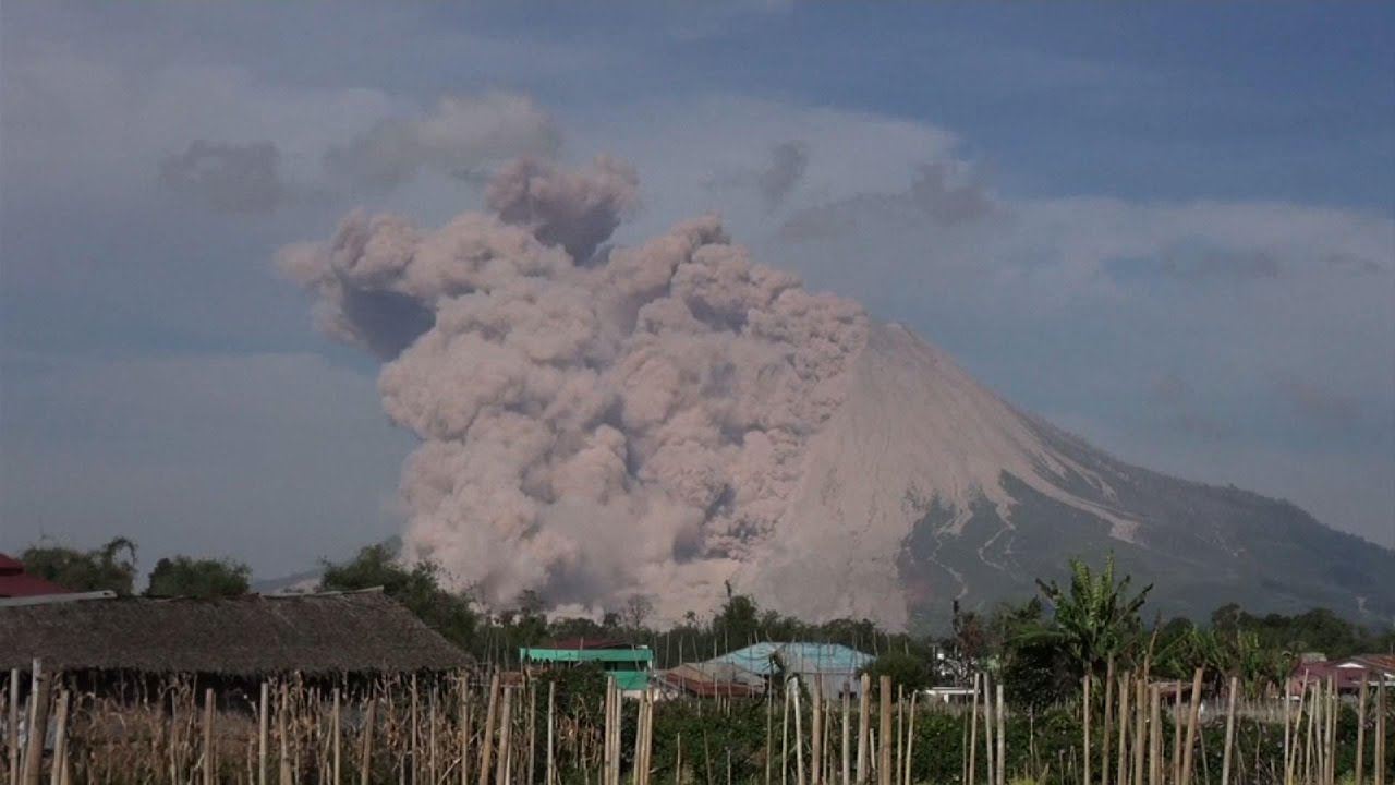 Indonesia's Sinabung volcano's burst of hot ash