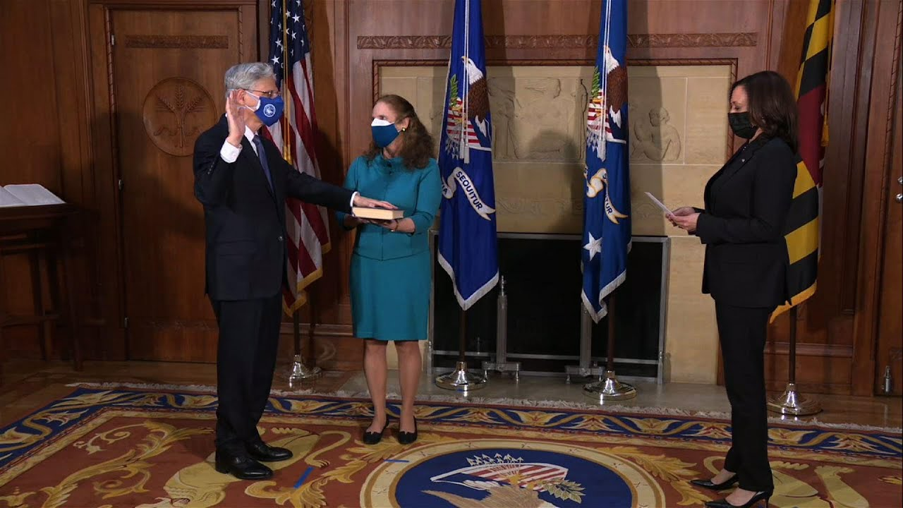 Garland takes oath of office as attorney general