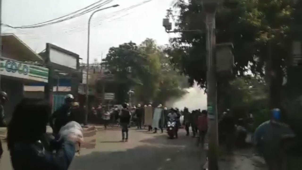 Mandalay protest dispersed by security forces