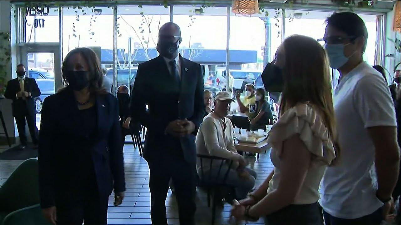 Kamala Harris visits vegan taco shop in Las Vegas