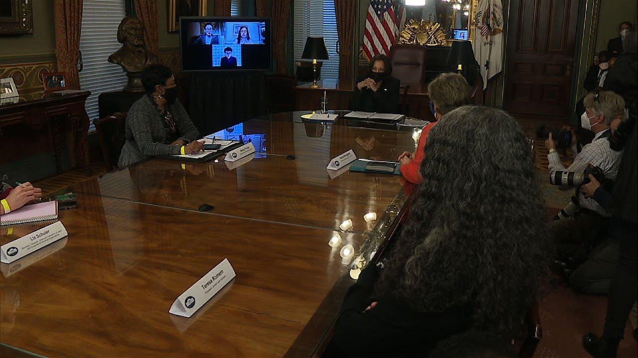 Harris: 'Great honor' meeting women labor leaders