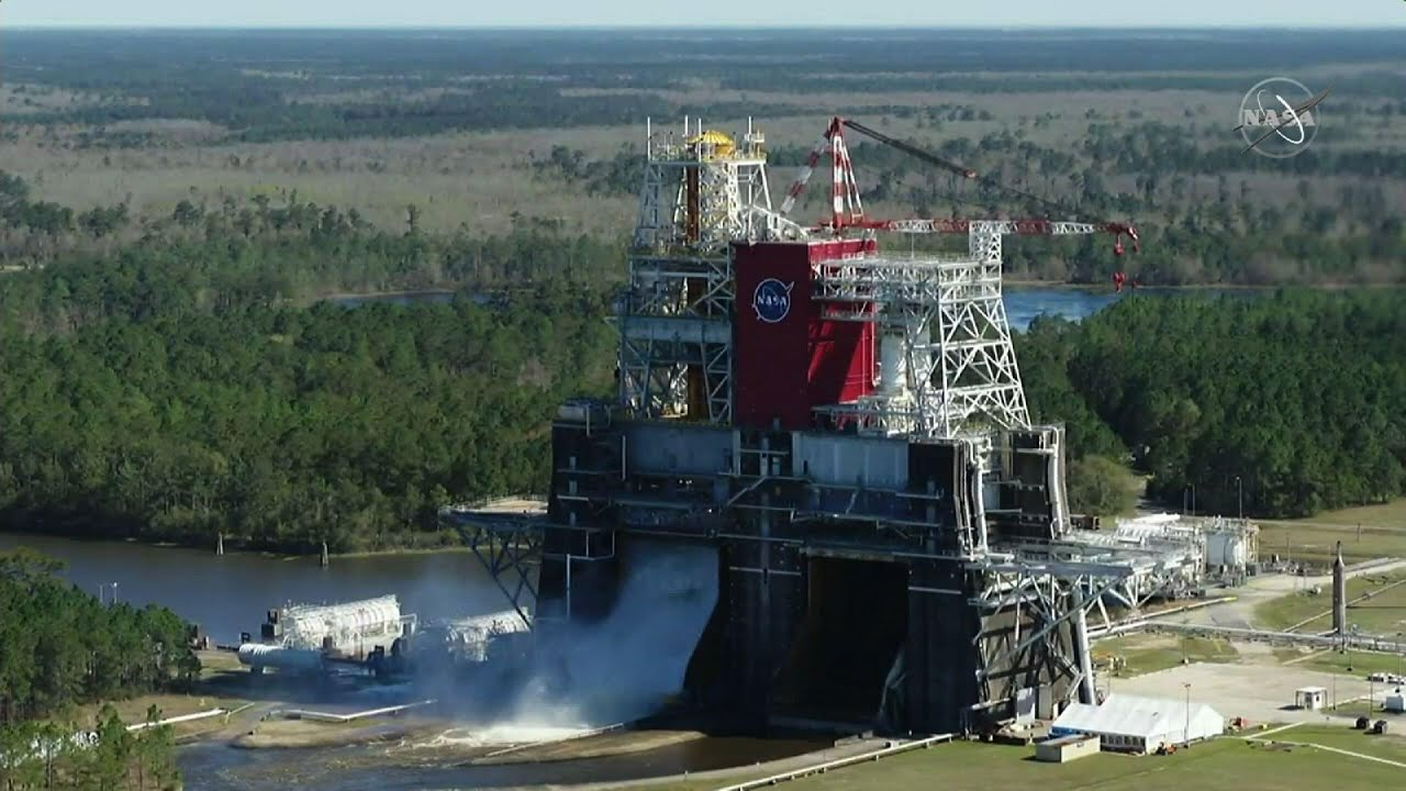 NASA tests SLS engine at Stennis Space Center