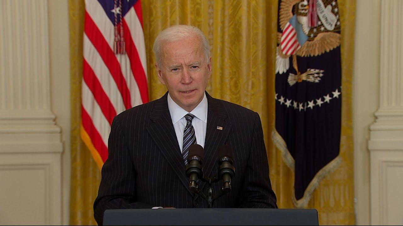 Biden: US to hit goal of 100M vaccine shots Friday