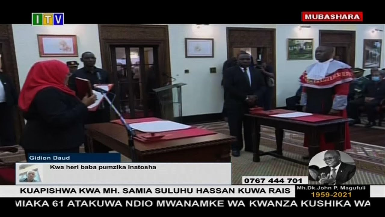 Tanzania swears in its first woman president