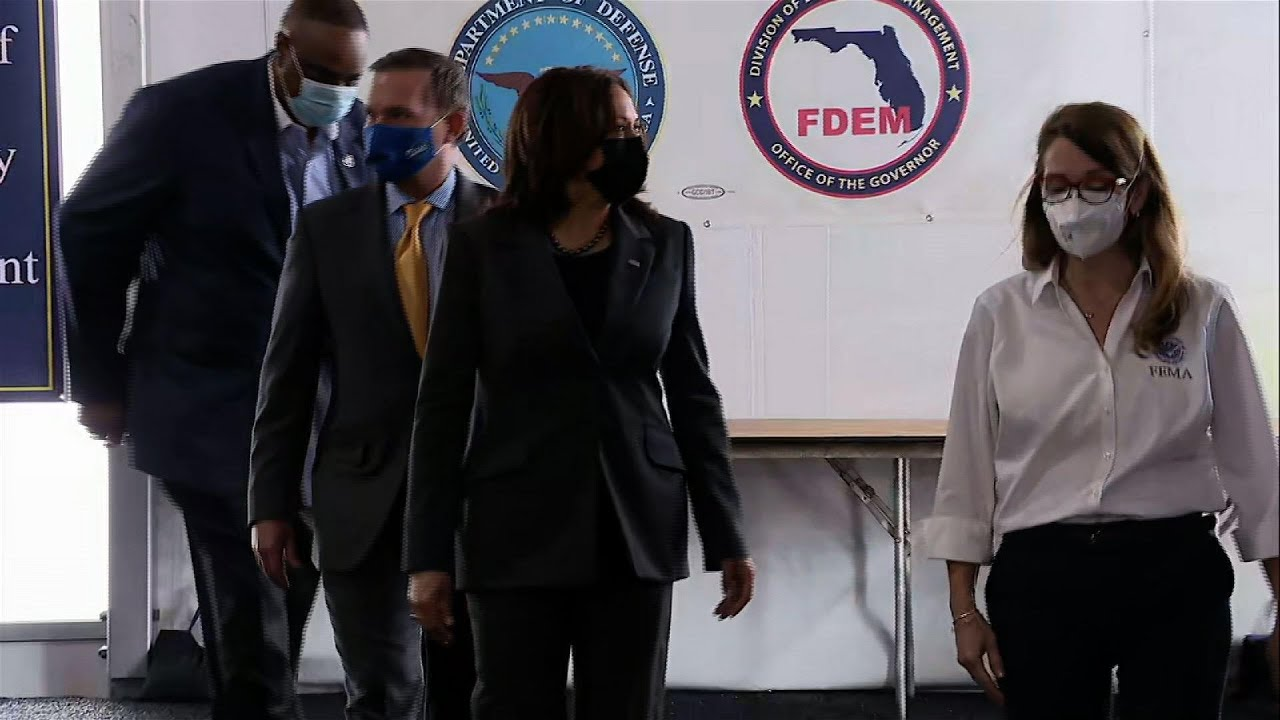 VP Harris tours Florida vaccination site