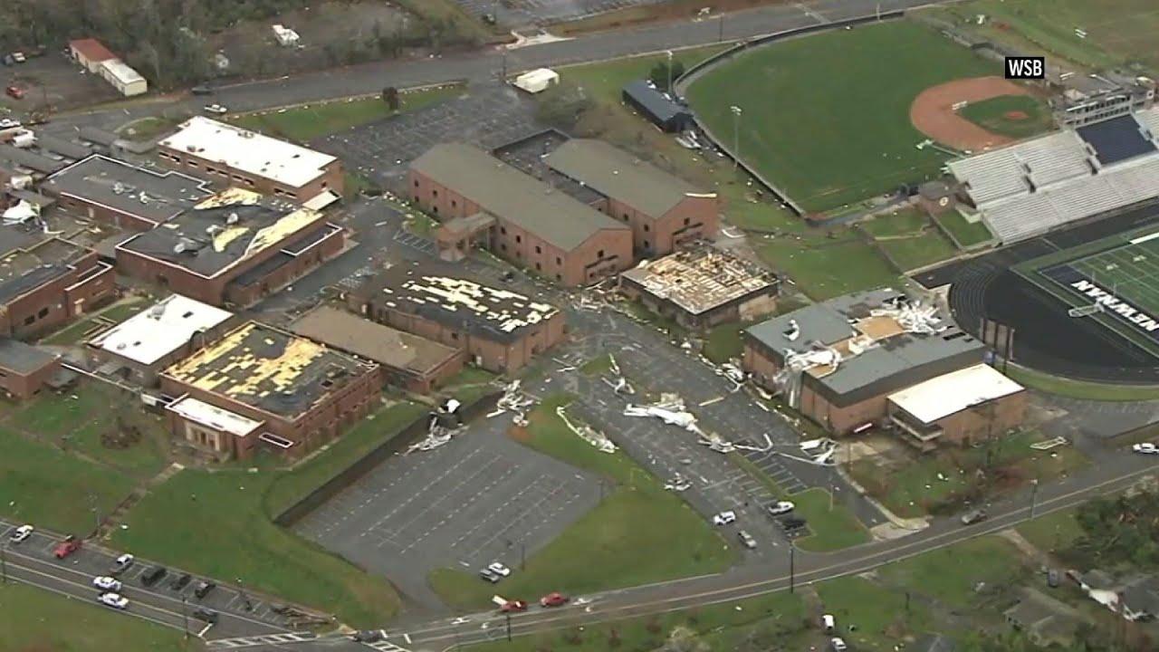 Major damage across Newnan as tornado hits Georgia