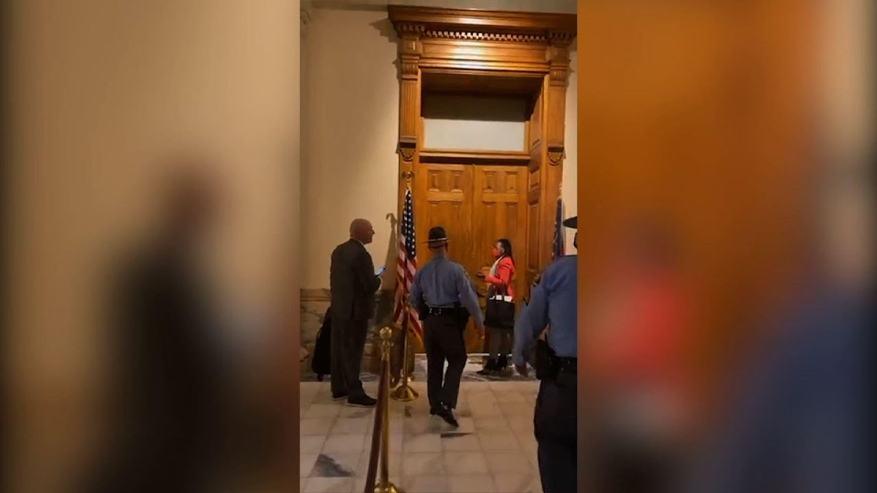 Georgia lawmaker arrested outside governor's office