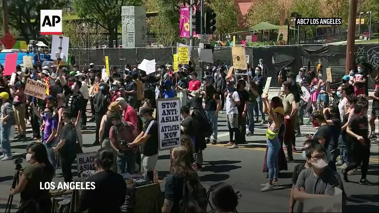 Rally in Los Angeles against Asian hate crimes