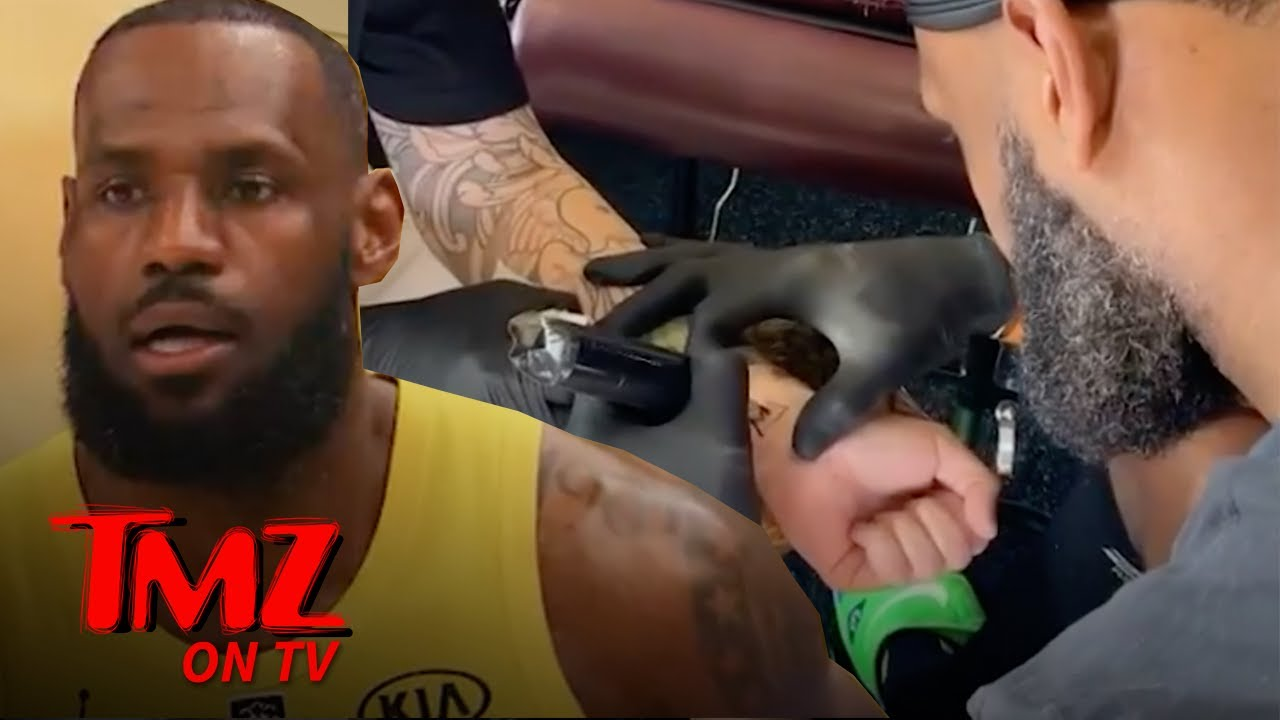 LeBron James Gives Tattoo To His Tattoo Artist ... Not Impressed | TMZ TV