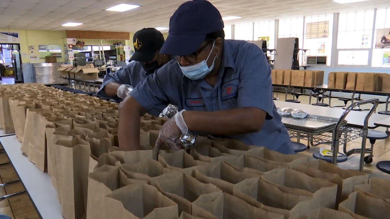 School delivers meals to kids in poor county