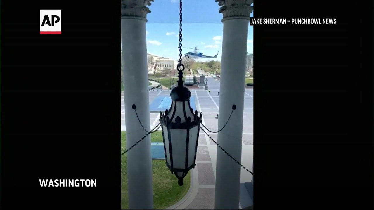 Helicopter lands at US Capitol after shooting