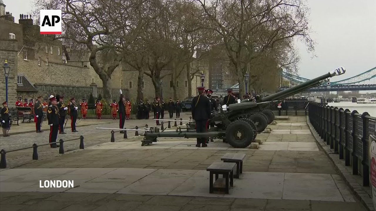 Royal Salute with guns fired across the UK