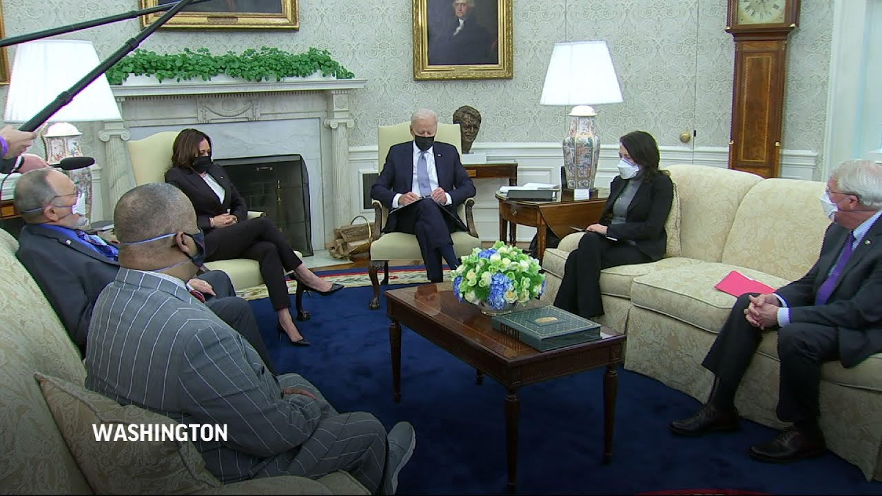Biden calls for peace and calm after MN shooting