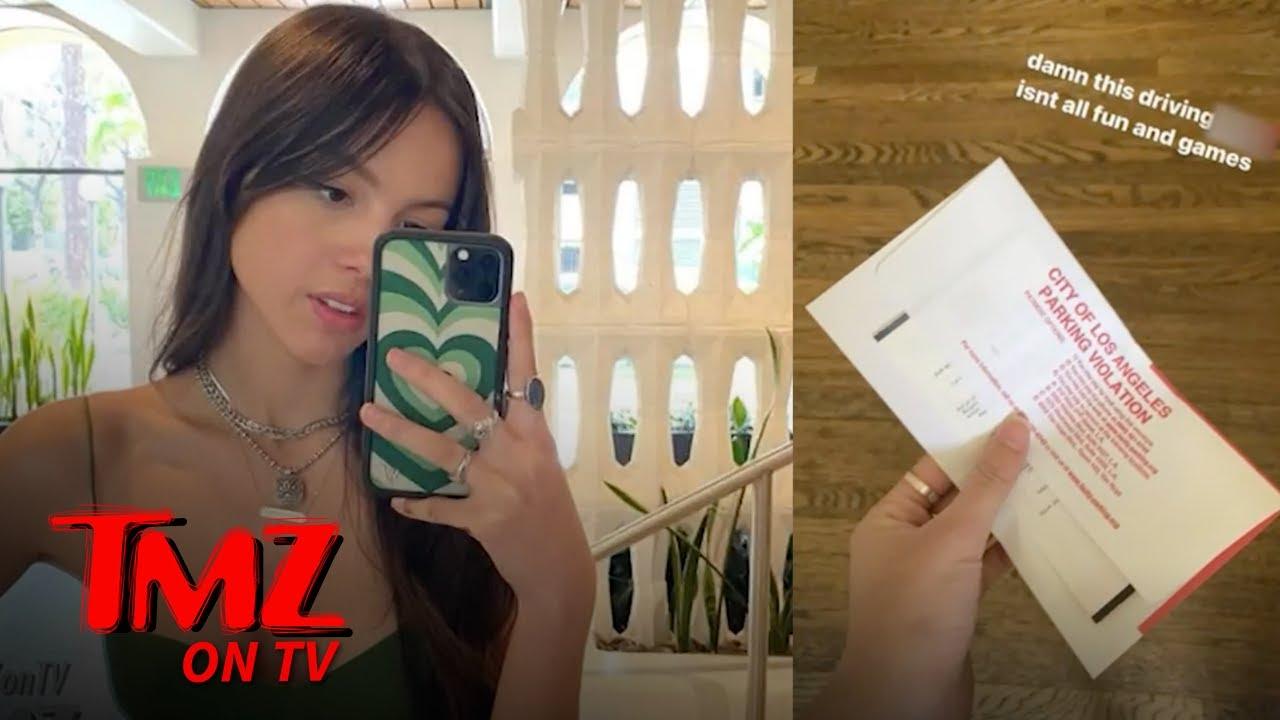 'Drivers License' Singer Olivia Rodrigo Gets Parking Ticket | TMZ TV