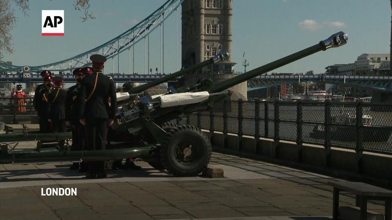 Silence and gun salutes for Duke of Edinburgh