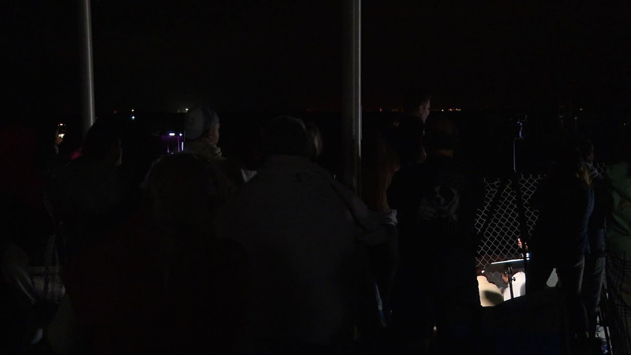 Spectators watch third crewed SpaceX launch