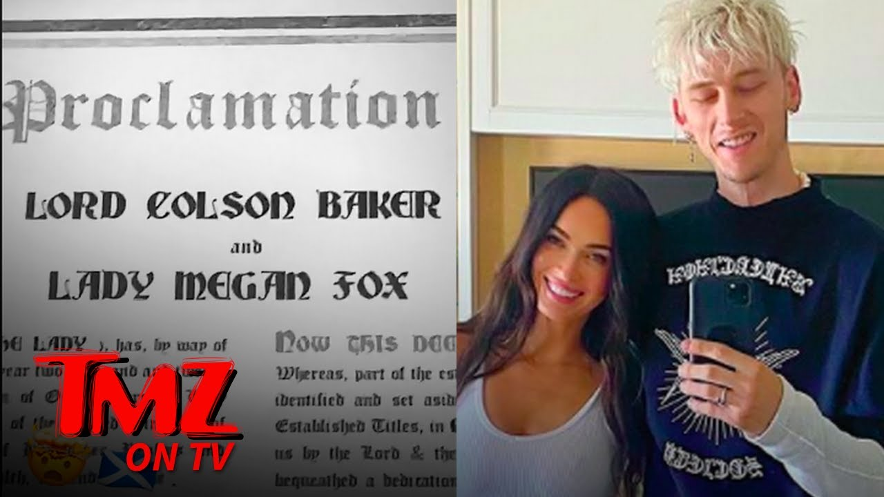 Megan Fox and MGK Become Scottish Lord and Lady After Being Gifted Land   TMZ TV
