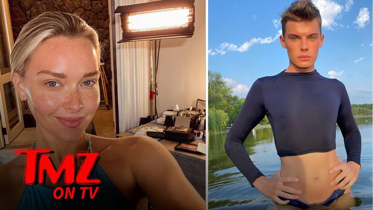 Camille Kostek Approves Of First Gender Fluid Sports Illustrated Model | TMZ TV
