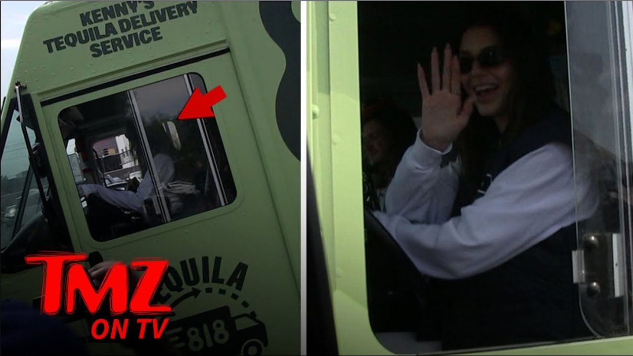 Kendall Jenner Drives Huge Truck Delivering Her Tequila to Liquor Store | TMZ TV