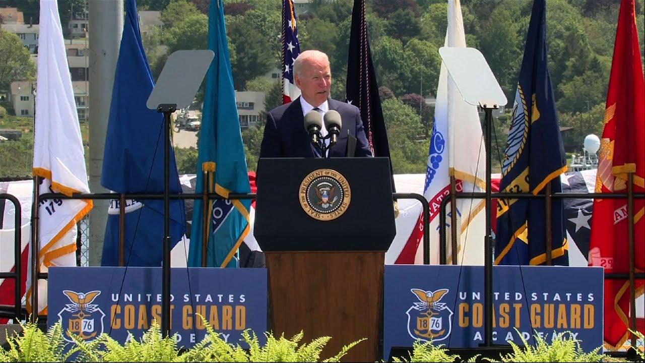Biden celebrates Coast Guard Academy graduates