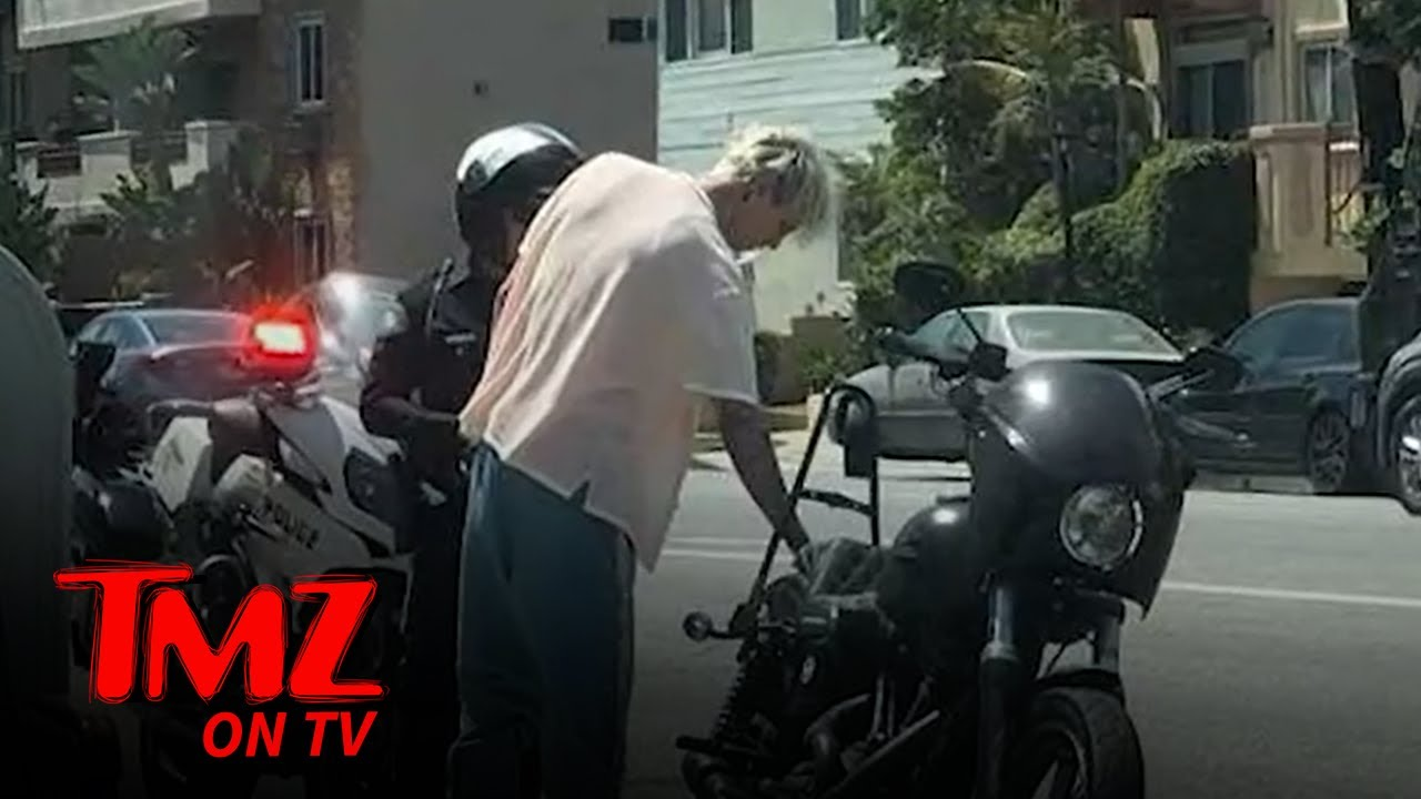 Machine Gun Kelly & Megan Fox Pulled Over on Motorcycle | TMZ TV