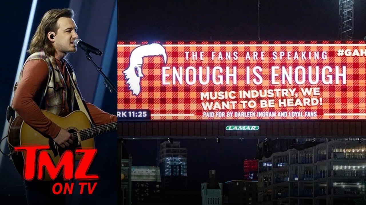 Morgan Wallen Fan Billboards Say 'Enough is Enough' as CMT Awards Approach | TMZ TV