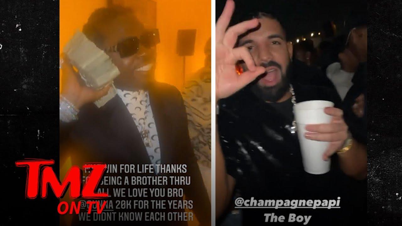 Drake, Future Party with Gunna at His Celeb-Packed 28th Birthday Bash | TMZ TV