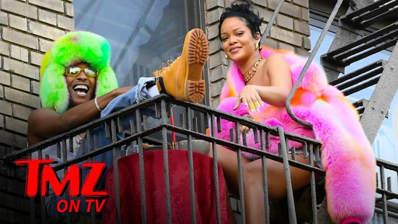Rihanna & A$AP Rocky Film Music Video | TMZ TV