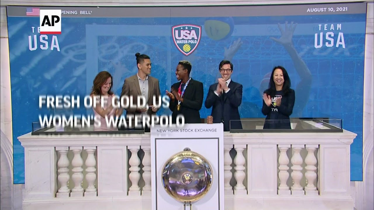 Fresh off gold, US water polo rings opening bell